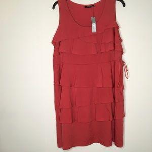 APT 9 ruffle coral dress